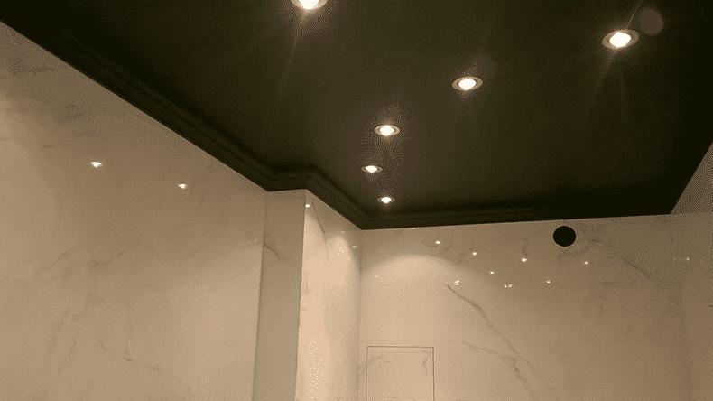 тканевый чёрный потолок