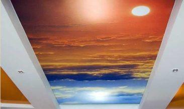 Натяжной потолок клипсо фотопечать