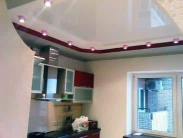 многоуровневый натяжной потолок1