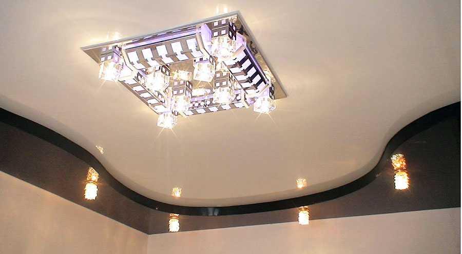 многоуровневый натяжной потолок5
