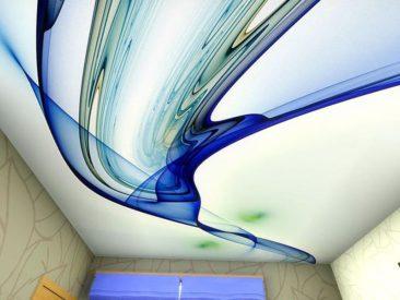 натяжной потолок с рисунком абстракция