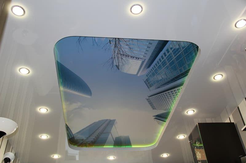 2х уровневый потолок с фотопечатью