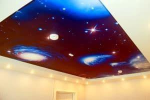 натяжной потолок звёздное небо галактика