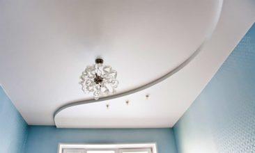 Матовый натяжной потолок 2 уровня