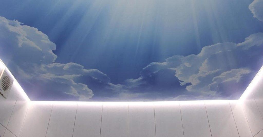 парящий потолок натяжной1