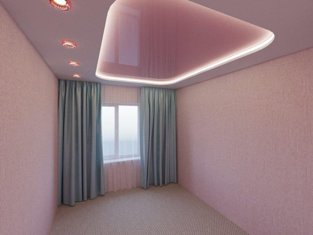парящий потолок 2х уровневый