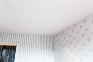 тканевый натяжной потолок детская