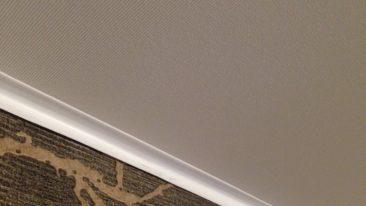 тканевый натяжной потолок вблизи