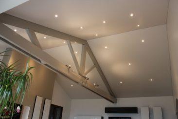 тканевый натяжной потолок сложной конструкции
