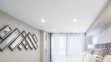 тканевый натяжной потолок черутти