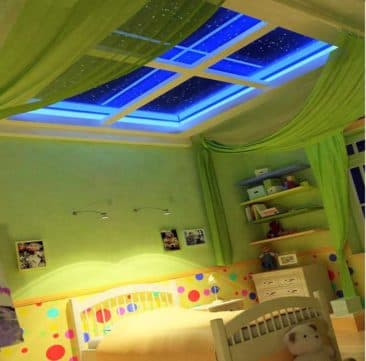 натяжной потолок 3d окно