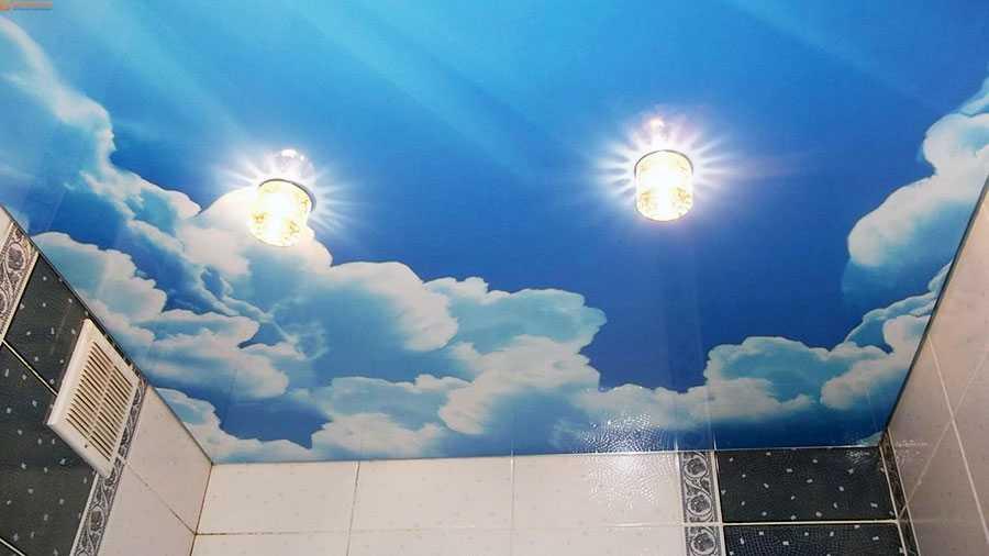 Фотопечать на натяжном потолке небо цена