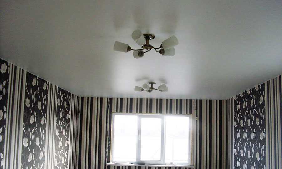 Сатиновый натяжной потолок3