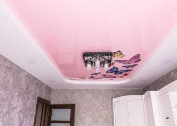 Натяжной потолок детская бабочки