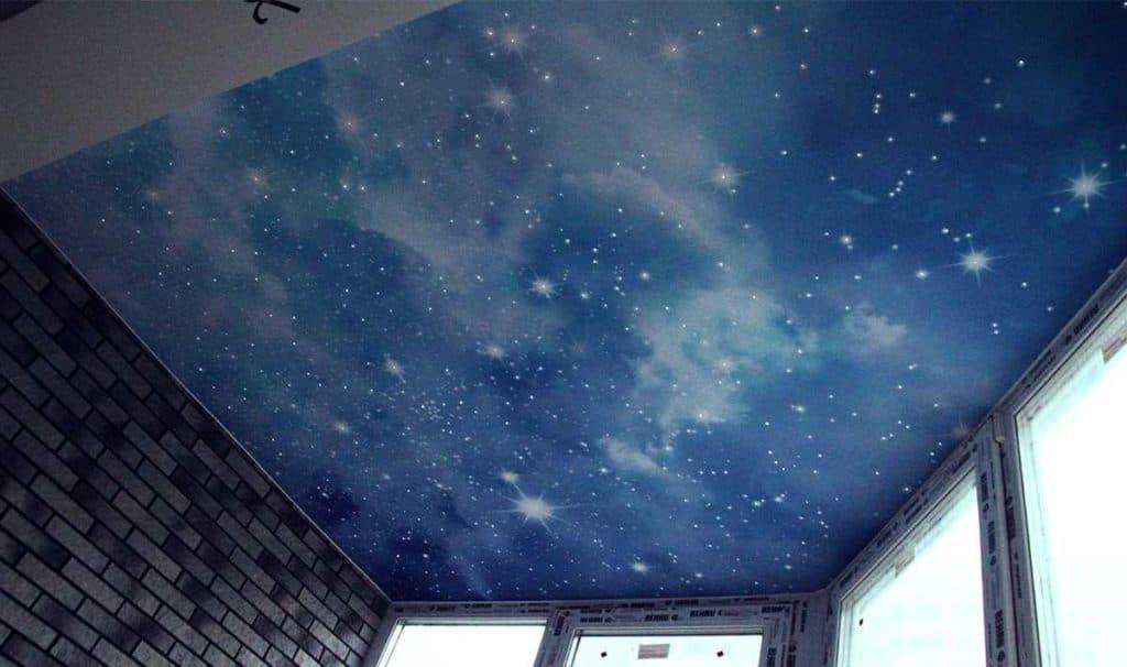небо натяжной потолок