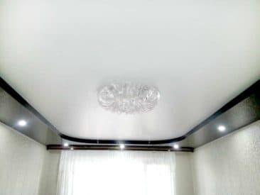 двухуровневые натяжные потолки бутово