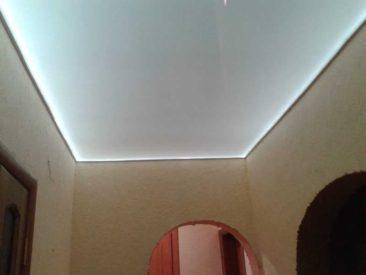 световой натяжной потолок сатин
