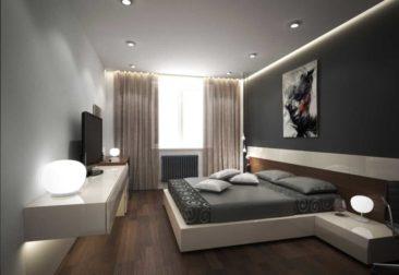 натяжной-потолок-в-спальню белый