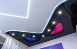 2-х уровневый натяжной потолок с подсветкой